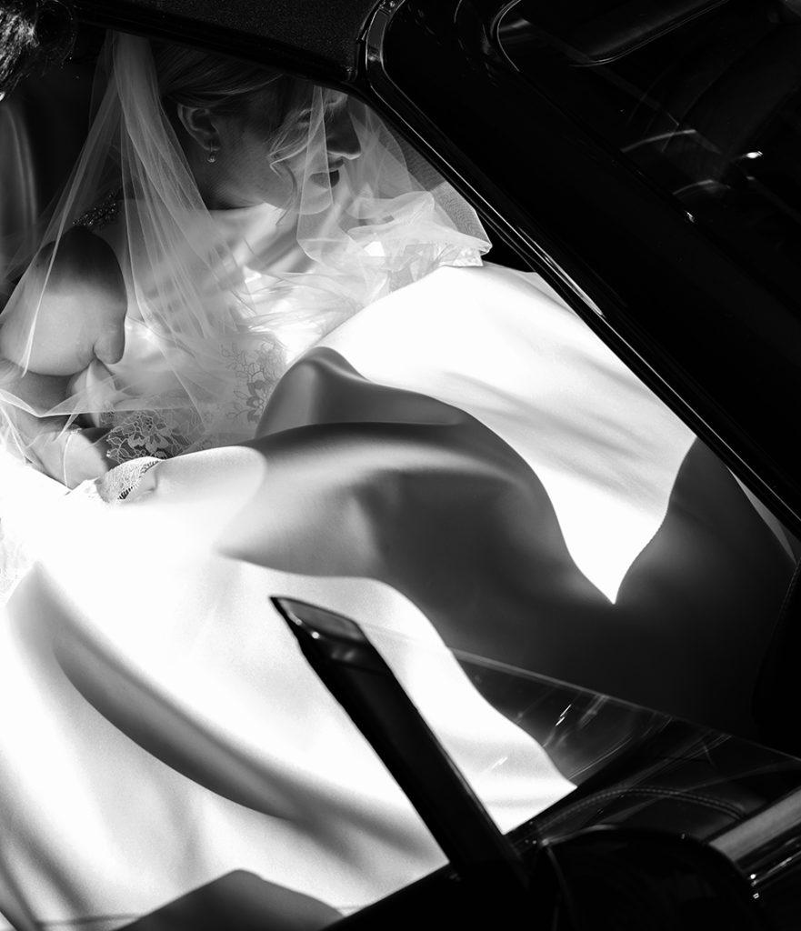 Photographe de mariage Lyon photo de la mariée en robe de mariée haut de gamme Lyon 6