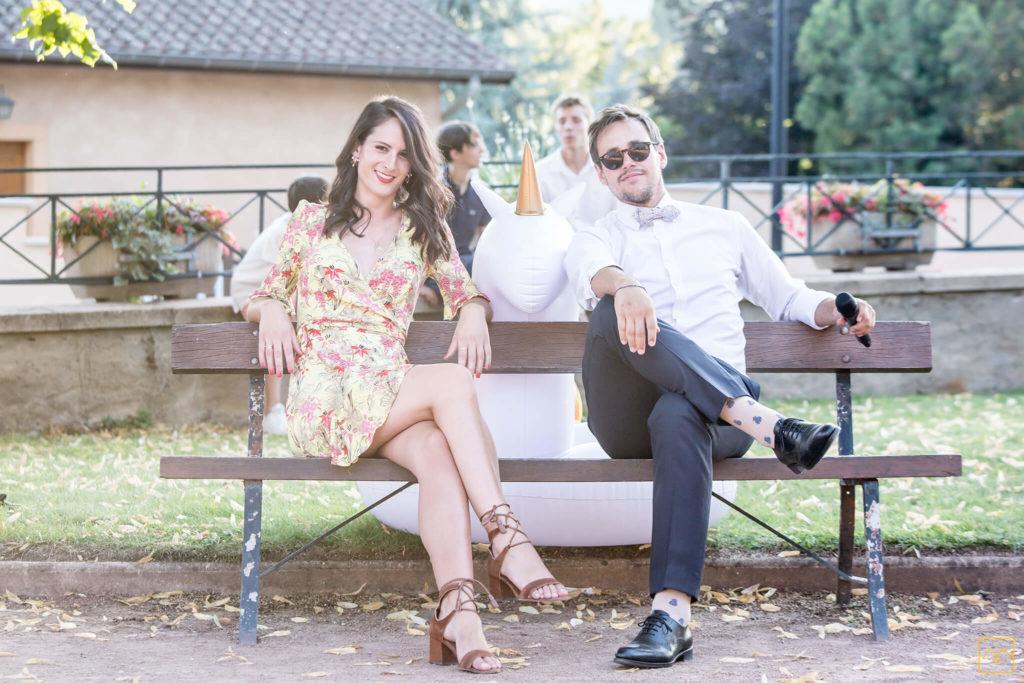 Photographe mariage Amédézal Lyon couple fun