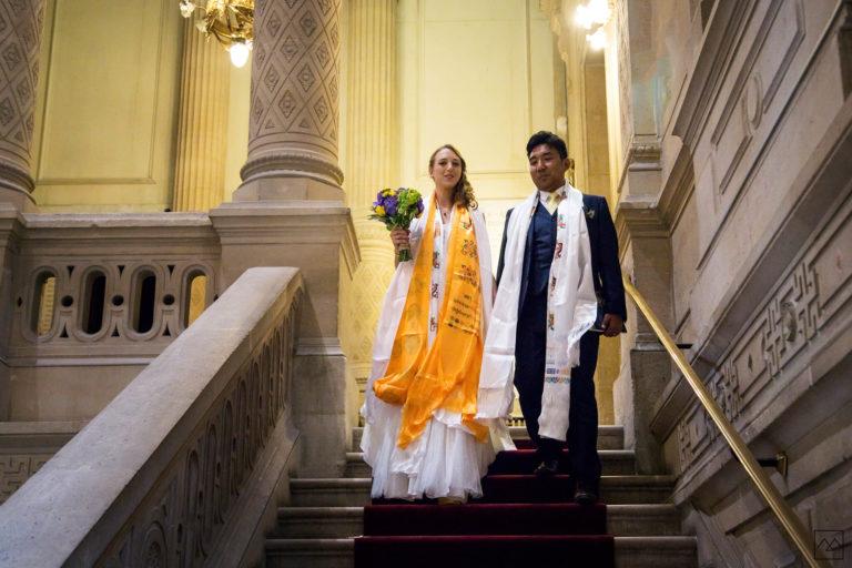Reportage mariage Amédézal Chalet des Iles à Vincennes couple franco tibétain Paris